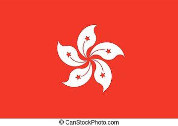 Flag of Hong Kong. Vector Format