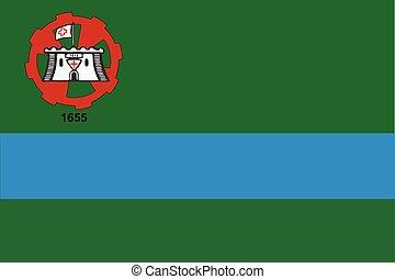 Flag of Jundiai, Brazil. Vector Format