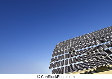 solar energy - view of a solar panel renewable electricity...