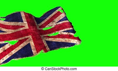 Old England flag on a green background