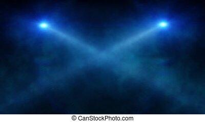 Abstract blue spot light