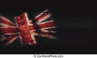 Old England flag on a black background