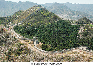 The Great Wall - Badaling Section of the Great Wall in...