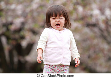Crying Japanese girl (1 year old)