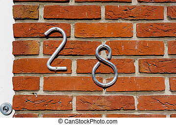 Number 28 - House number twenty eight (28)