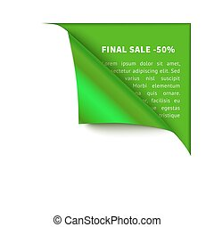 Realistic vector white paper which gets rolled up. Paper...