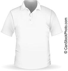 Vector illustration of white men's polo EPS10