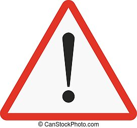 Attention sign. Exclamation point on a white background. Vector illustration