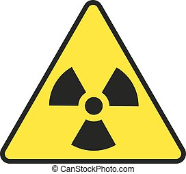 Vector illustration of radiation warning sign, isolated on...