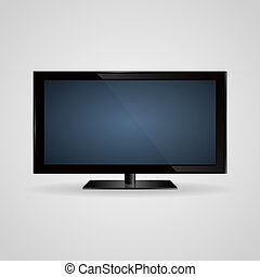 TV screen lcd, plasma realistic vector illustration - TV...