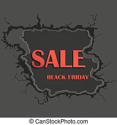 Hole in the wall. Sale, black friday