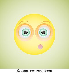 Smiley with an embarrassed emotion. Vector illustration -...