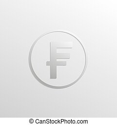 Franks icon with gradients and shadows. Vector illustration...