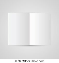 Magazine blank page template for design layout. Vector illustration on gray background