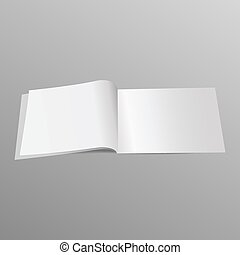 Magazine blank page template for design layout. Vector illustration on gray background. eps10