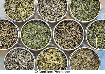 loose leaf green tea collection - green tea sampler - top...