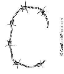 Barbed wire alphabet, C