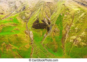 View at the Georgia Mountains near Gudauri. Caucasus...