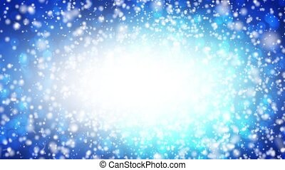 Falling snow on a blue background