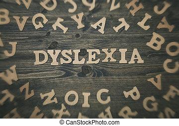 de madera, palabra, Dislexia, Plano de fondo