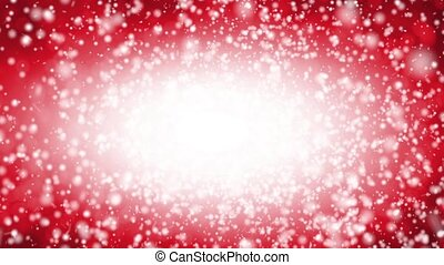 Falling snow on a red background