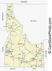 idaho road map