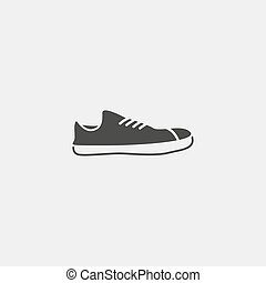 Shoe icon in black color. Vector illustration eps10