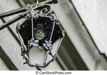 old lantern of castle building