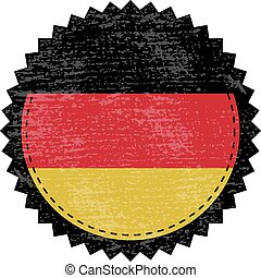 Germany grunge stamp with flag. Vector illustration