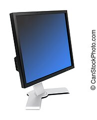 Computer Monitor - A computer monitor isolated against a...