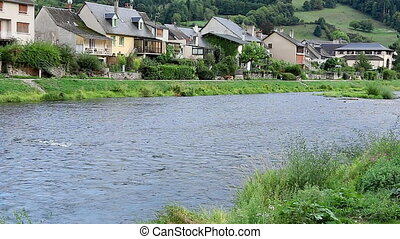 River Lot France running water - Water running in the river...