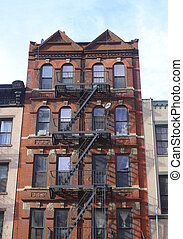 Brownstone building in New York City