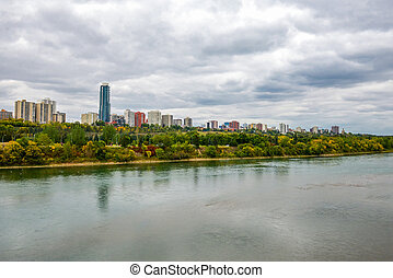 Edmonton from the River - Aerial view at Edmonton from the...