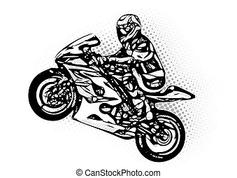 mororcycle rider vector illustration