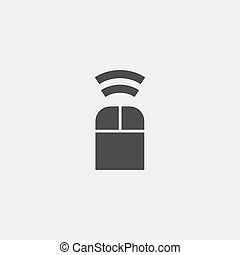 Mouse bluetooth icon in a flat design in black color. Vector...