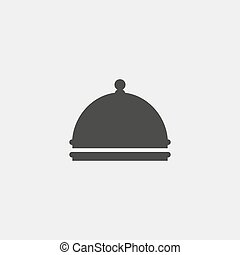 satellite dish icon in a flat design in black color. Vector illustration eps10