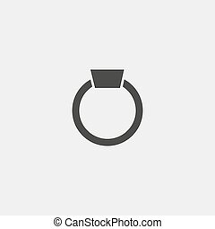 ring icon in black color. Vector illustration eps10