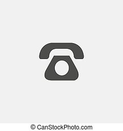 Phone icon in a flat design in black color. Vector...