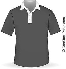 Vector illustration of black men's polo EPS10