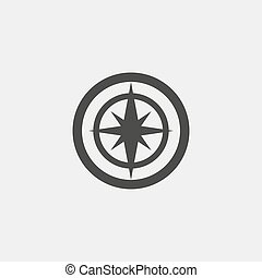 Navigation icon in a flat design in black color. Vector...