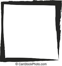 Frame square ink grunge background. Vector illustration