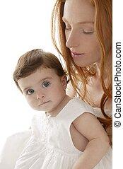 嬰孩, 白色, 擁抱, 愛, 媽媽