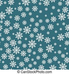 Snowflakes seamless pattern. Snowflake background...