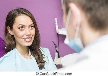 Female dental patient