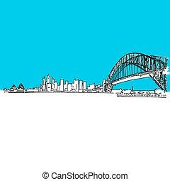 Sydney Harbour bridge Skyline