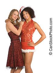 Christmas ethnic Latina Mrs. Santa Claus friend