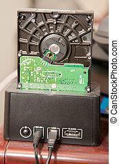 SATA docking station - SATA hard drive in plug and play...