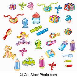 oggetti piccoli per bambini, infanzia, giocattoli per primi...