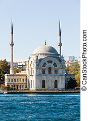The Dolmabahce Mosque is in Istanbul, Turkey. It was...