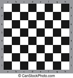 Chessboard on green - Chess table abstract black on...
